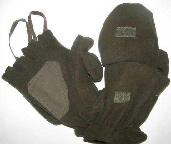 Перчатки-варежки из теплого флиса