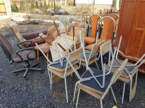 Krzesła komplet, PRL, Retro,