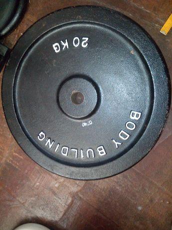 Obciążenie 20 kg x 2