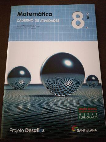 Caderno de atividades de Matemática para o 8 ano