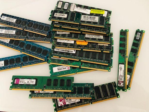 Memórias DDR, DDR2, DDR3 lote único