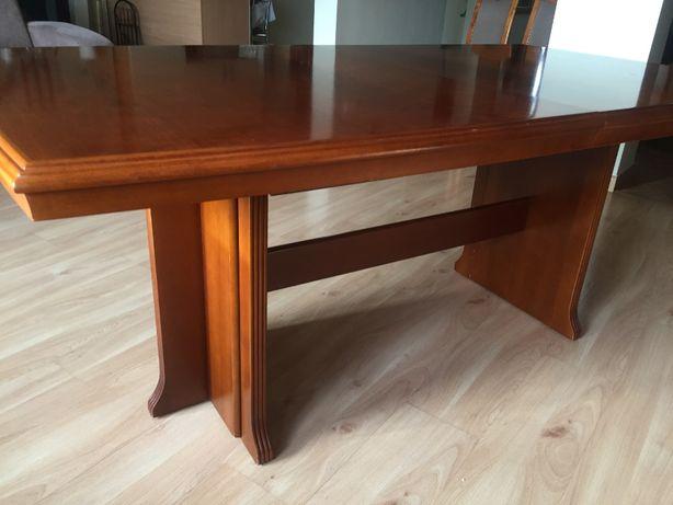 komplet stół lite drewno rozkładany Klose + 10 krzeseł