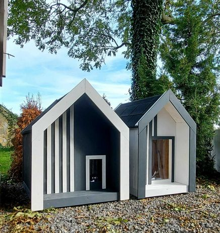 Nowoczesna buda dla psa, kota, stodoła, ocieplana, rozm. L