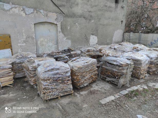 Drewno opałowe kominkowe buk dąb