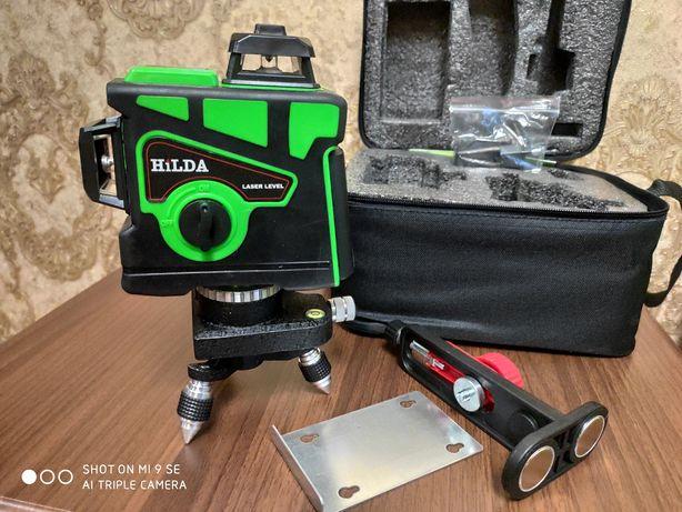 Лазерный уровень HILDA 3D + магнитный кронштейн