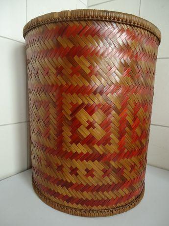 kosz,bambus,rattan,rafia,wiklina,pleciony,PRL