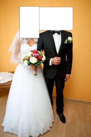 garnitur ślubny weselny 176 czarny slimowany