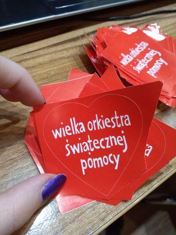 """Naklejki """"Wielka orkiestra światecznej pomocy"""" 80szt."""