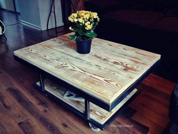 Stolik LOFT na kołach ława loftowa stolik kawowy WS