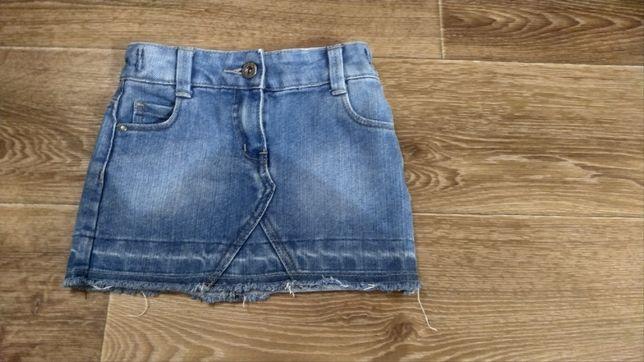 Джинсовая юбочка 98см 3 года