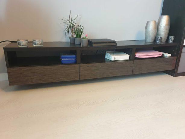 Ikea BESTA czarnybrąz, obudowa rtv + trzy szuflady