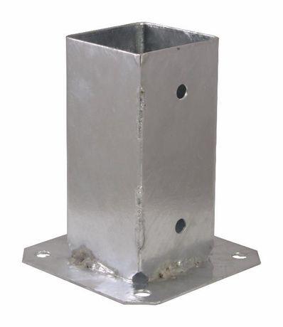 Podstawa słupa przykręcana 70x70x150mm, kotwa, wspornik
