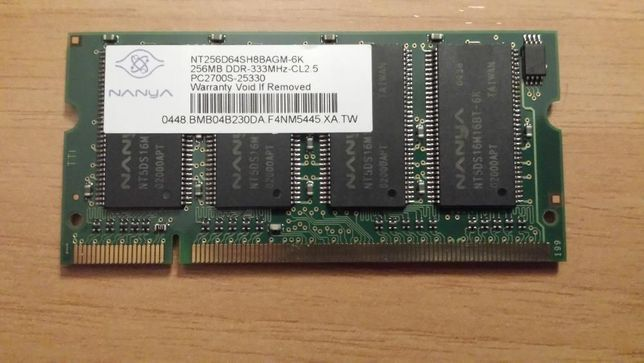 Memoria Portátil SO-DIMM 256MB DDR 333MHZ