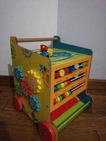 Drewniany pchacz chodzik zabawka dla dziecka