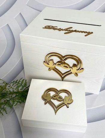 Skrzynka na koperty i pudełko na obrączki