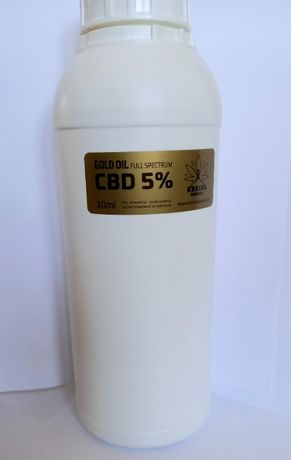 Olej Konopny CBD Gold 5% Full Spectrum 1 litr CERTYFIKOWANY