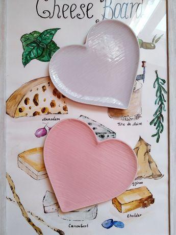 Керамическая тарелка миска посуда в форме сердца сердце