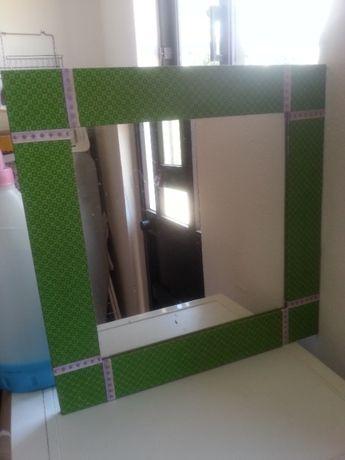espelho tecido verde