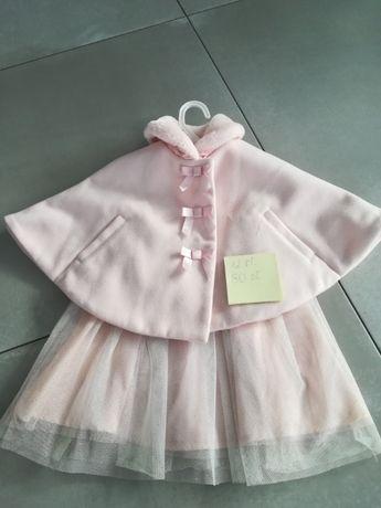 Śliczna sukienka z płaszczykiem 12 miesięcy