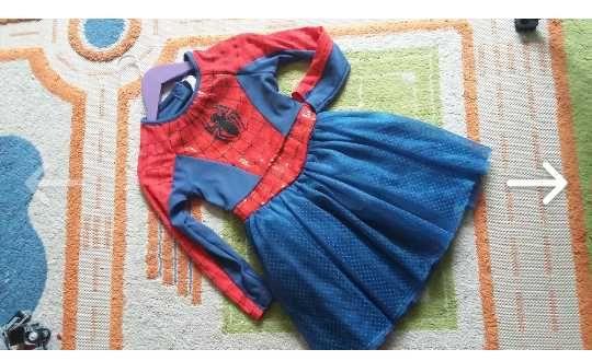 Платье подружки Спайдермена на 5-6 лет, фатин, пайетки, очень пышное