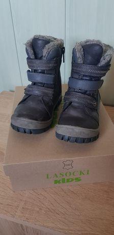 Buty zimowe Kozaki Lasocki dla chłopca r 22