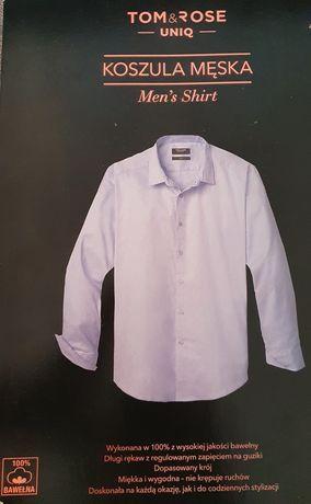 Koszula męska XXL nowa błękitna 100% bawełny