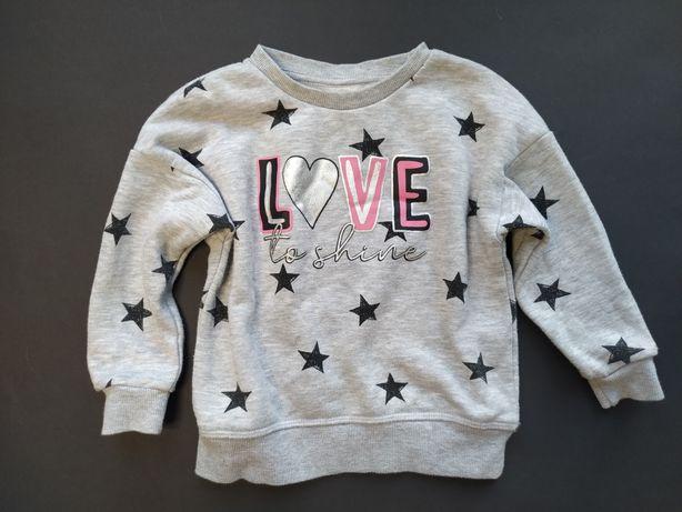 Primark śliczna bluza Love to shine 98cm