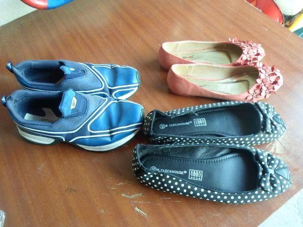 sapatilhas reebok + 2 pares de sabrinas