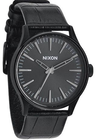 Relógio Nixon The Sentry 38 Pele Preto (novo)