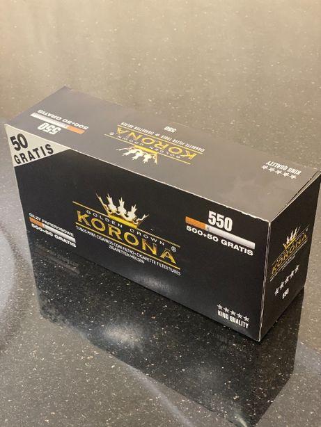 KORONA 550 Гильзы для сигарет, гильзы для табака, сигаретные гильзы