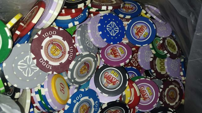 Фишки для покера 800 штук