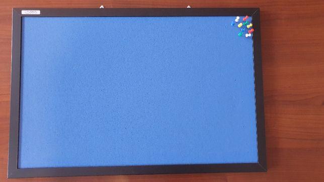 Tablica korkowa, niebieska 40x60cm, sprzedam/wymienię