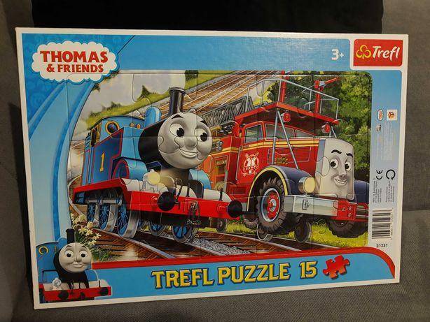 Puzzle 15 Tomek i przyjaciele jak nowe