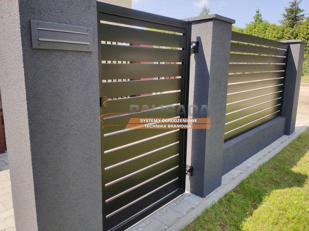 NOWOCZESNE ogrodzenie prefabrykowane | MURKI i SŁUPKI | TYNKOWANE