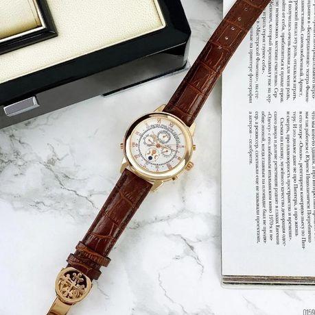 часы, два механизма / Patek Philippe, мужские / с застежкой Патек Фили