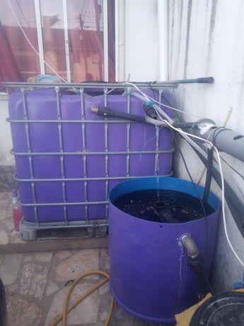 Vendo sistema para criação de peixes, aquaponia. 1000 litros + 160