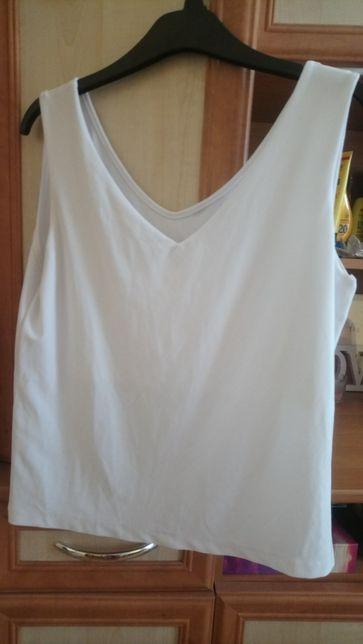 Biała bluzeczka na grubych ramiączkach L/XL