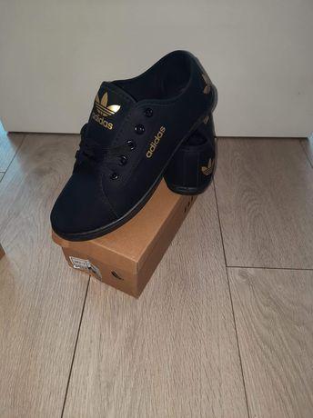 Trampki damskie czarne adidas 36,37,39