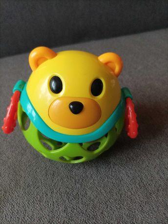 Piłka gumowa zwierzątko, grzechotka, gryzak