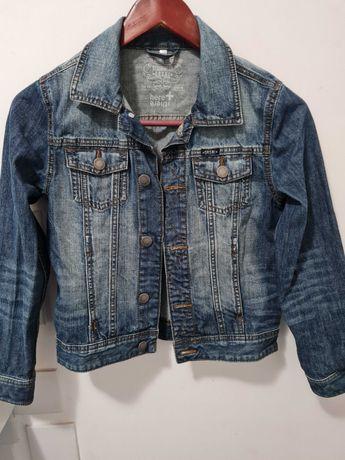 Джинсовый подростковый пиджак оригинальный! DENIM USA  б/у .рост 140