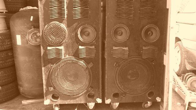 Kolumny estradowe duze przenosne , sprawne , kpl 2 sztuki