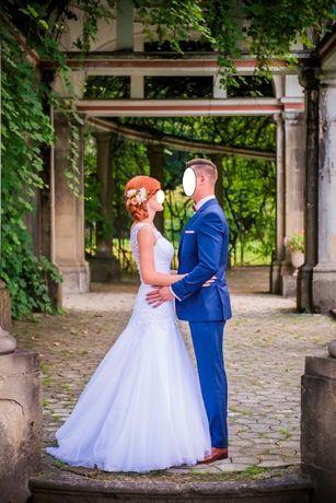Prześliczna koronkowa suknia ślubna
