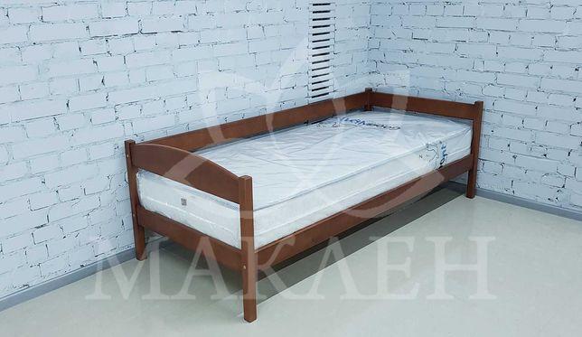 Букове односпальне ліжко 80 на 190