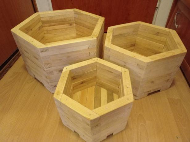 Drewniane donice różne rozmiary