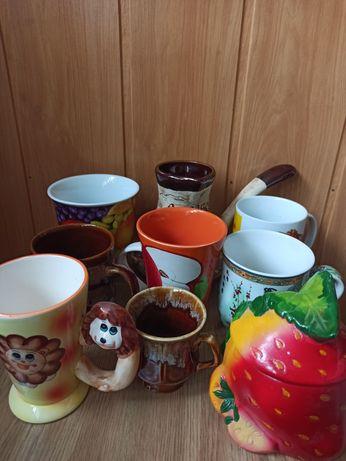 Чашки сахарница турка кофеварка посуда