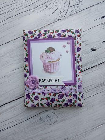 Обложка на паспорт ручной работы мягкая / скрапбукинг