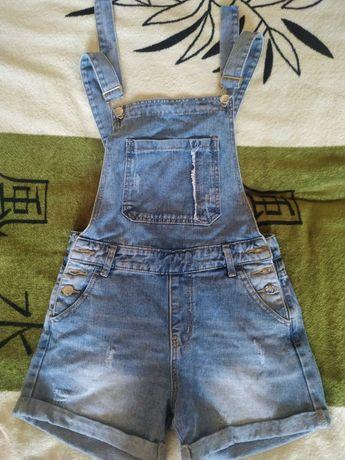 Комбинезон джинсовый для девочки 10-11 лет