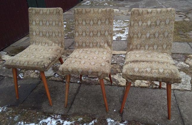 REZERWACJA Krzesła stołki PRL patyczaki krzesło stołek 3 sztuki
