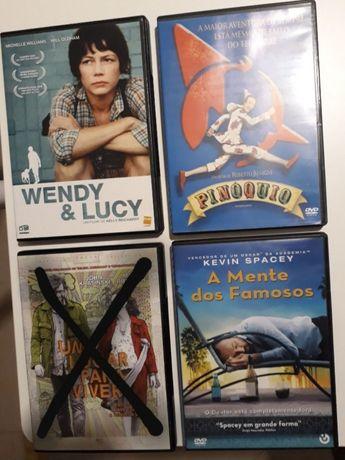 DVD 3e Pinóquio, Wendy & Lucy, A Mente dos Famosos