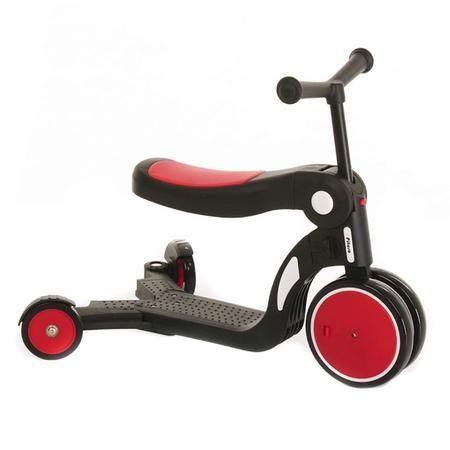 Самокат GS-0057 Red пластик.складной с сиденьем PU колеса